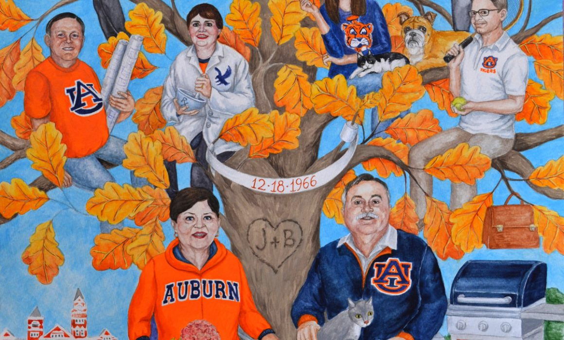 Creative gift idea for parents who are Auburn University tigers fans