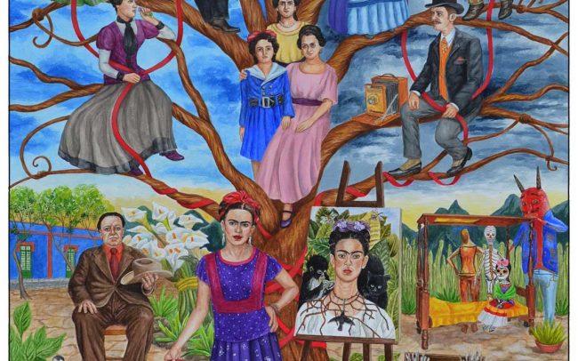 Frida Kahlos Custom Family Tree Painting