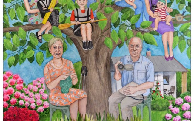 Family tree painting for a German couple
