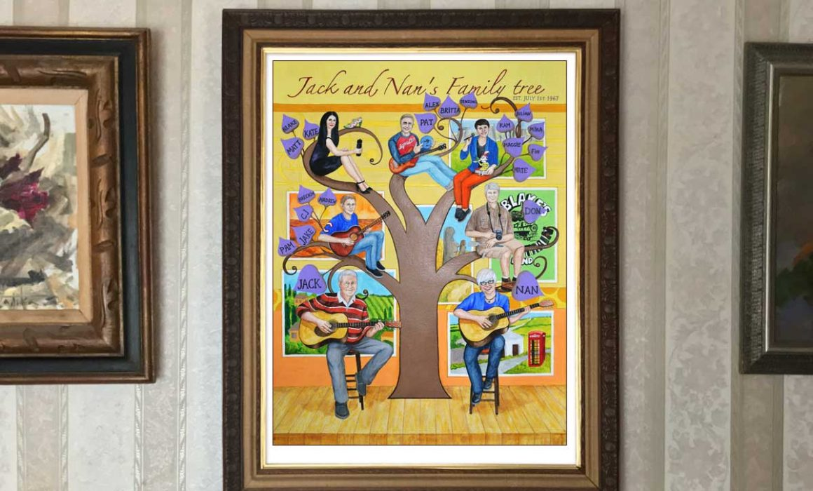 Personalized family tree painting
