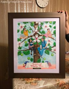 Family Tree Painting Of A Five