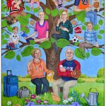 65th birthday gift for mom - a custom family tree that tells your family story
