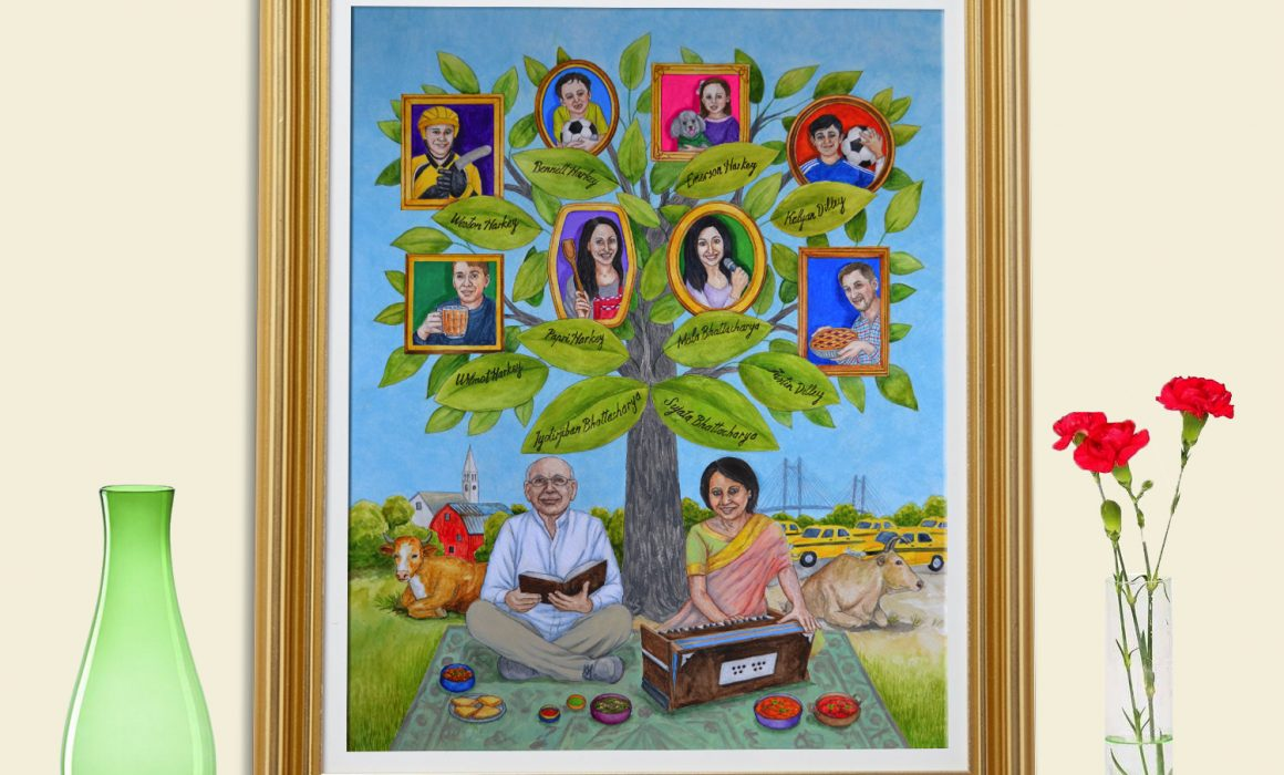 Custom Family Tree Art As A Unique Birthday Gift For Mom Indian Mother Archives