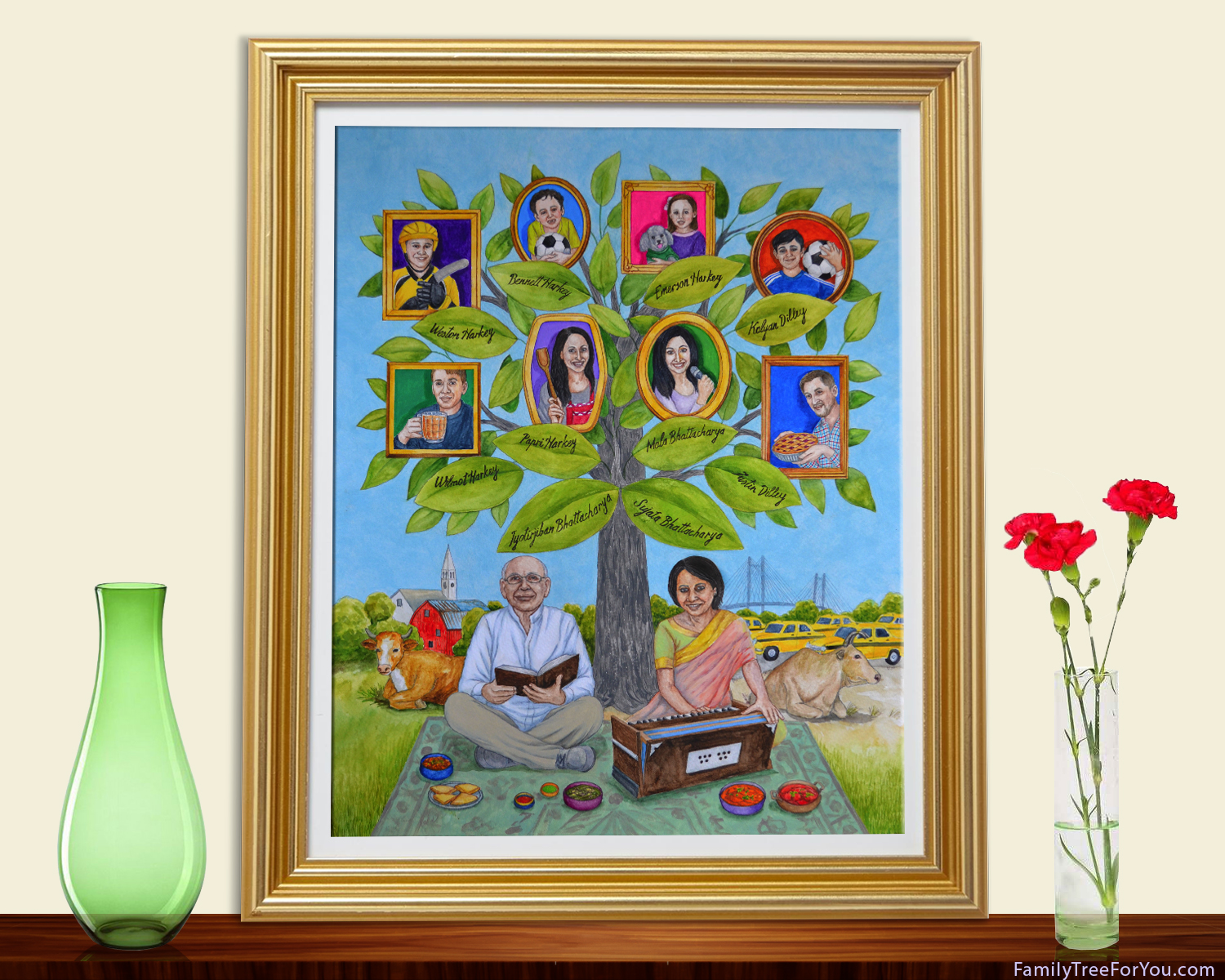 Birthday Gift For Indian Mother Archives Custom Family Tree Art